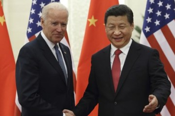 Joe Biden and Xi Jinping in Beijing