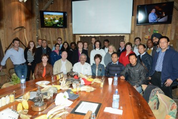 2014 Global Farmer Roundtable_group photo at Couser Cattle Co.