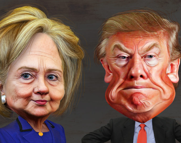 Hillary_Clinton_vs._Donald_Trump_-_Caricatures