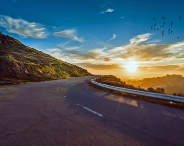 mountain-road-sunset