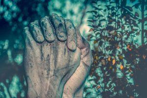 أيدي المزارعين في الصلاة